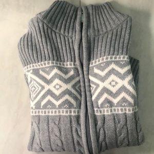 Grey zip up sweater